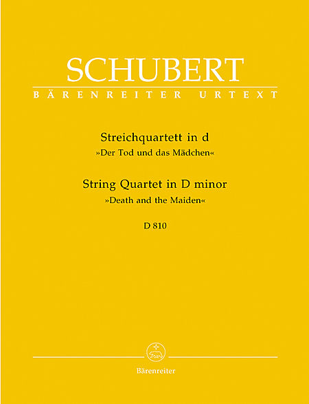 求舒伯特《d小调第14首弦乐四重奏(死神与少女)》的谱子,有额.